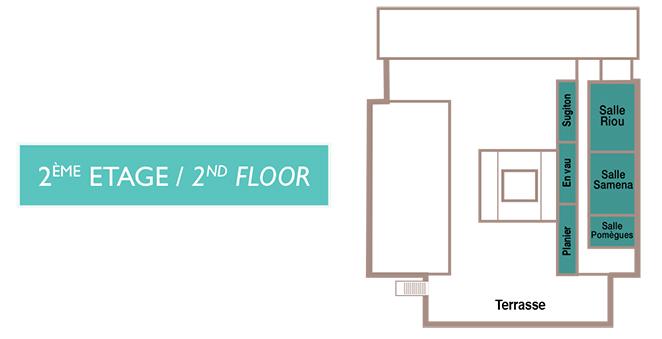 Marseille Chanot - Palais des Congrès - Plan 2ème étage