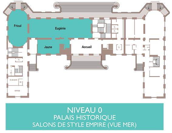 Palais du Pharo - Plan niveau 0
