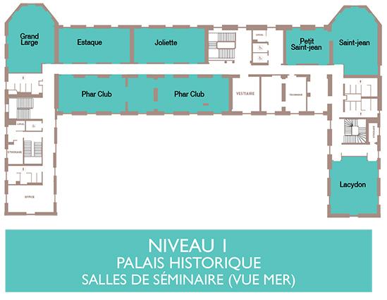 Palais du Pharo - Plan niveau 1