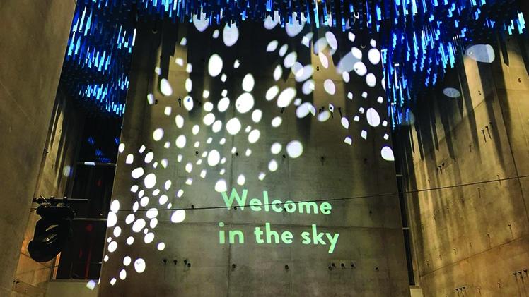 inauguration du sky center decors et technique realises par la societe aucop