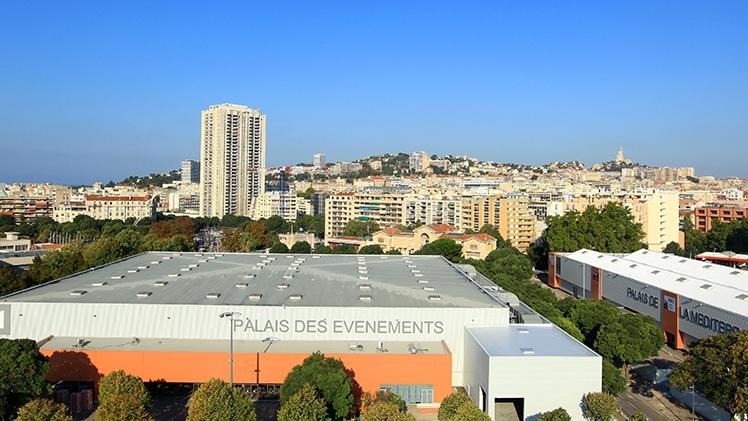 Marseille Chanot - vue aérienne