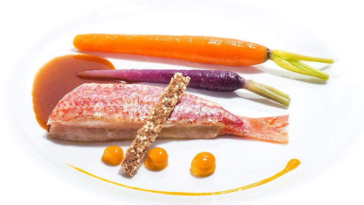 fleur de sel rouget et legumes croquants