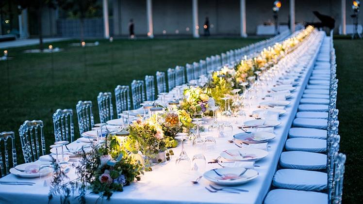 Chateau la coste reception pour mariage exterieur de nuit