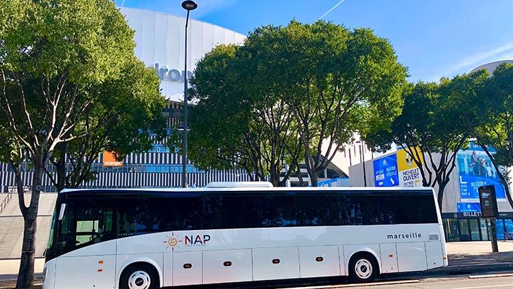 N.A.P Tourisme - Bus blanc Orange Vélodrome