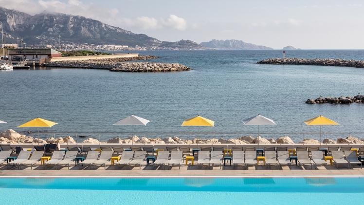 NHow Marseille Palm Beach view
